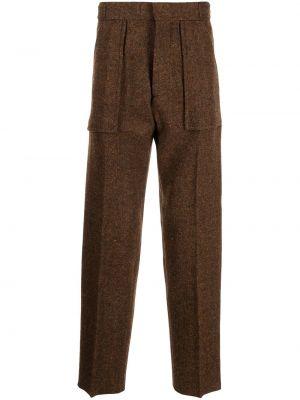 Brązowe spodnie wełniane Oamc