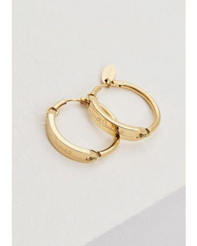 Серьги-кольца золотые Just Cavalli