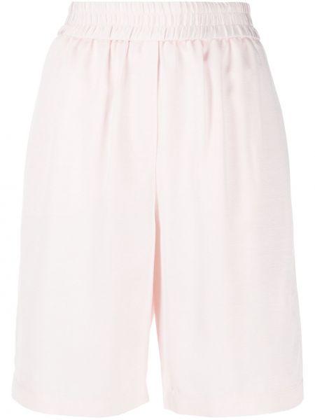 Однобортные розовые спортивные шорты эластичные из вискозы Frenken