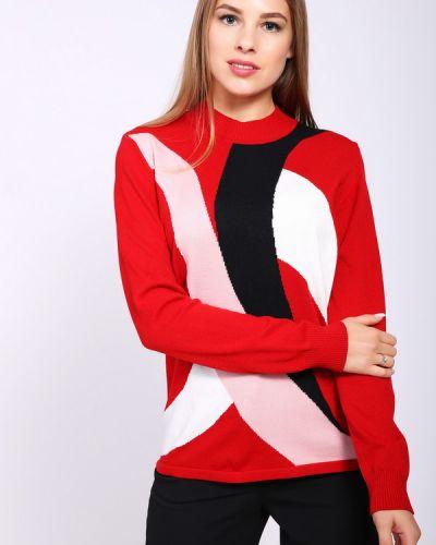Пуловер красный Lebek