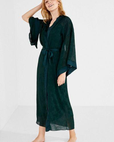 Зеленый халат домашний Women'secret