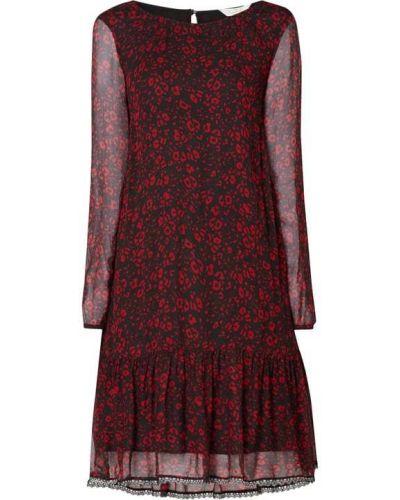 Sukienka rozkloszowana z falbanami z długimi rękawami z wiskozy Frogbox