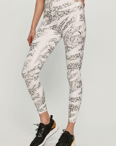 Białe spodnie dzianinowe Puma