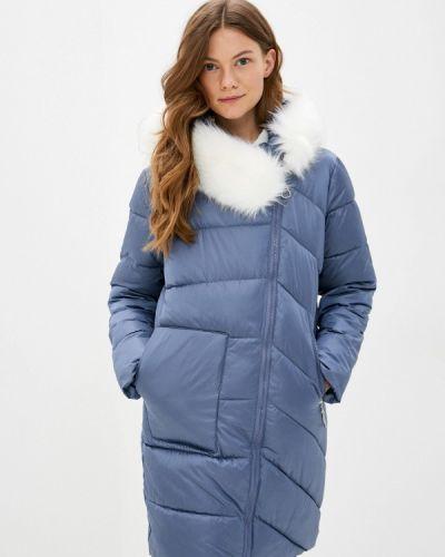 Теплая синяя зимняя куртка Liana