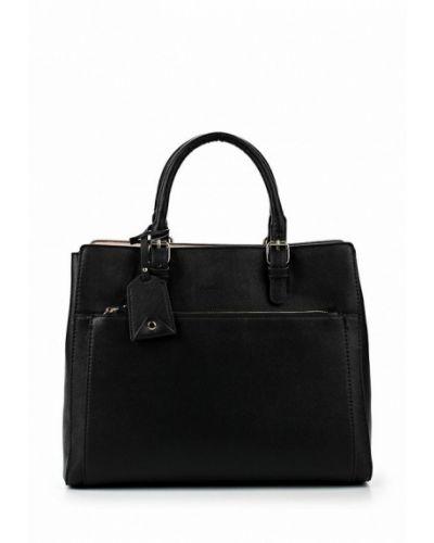 Черная кожаная сумка Mango