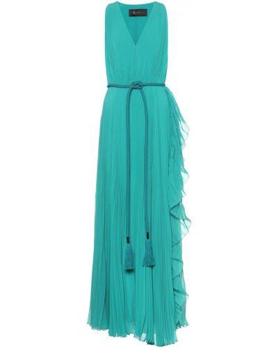 Вечернее платье макси зеленый Max Mara