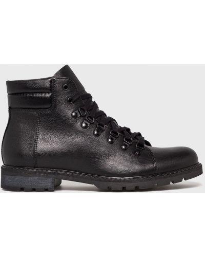 Кожаные ботинки на шнуровке высокие Domeno
