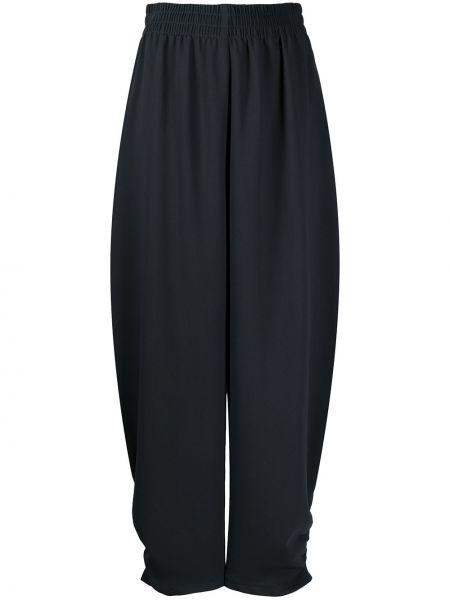 Хлопковые черные укороченные брюки эластичные See By Chloé