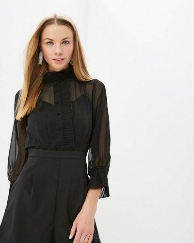 Черный комбинезон с шортами Lost Ink.