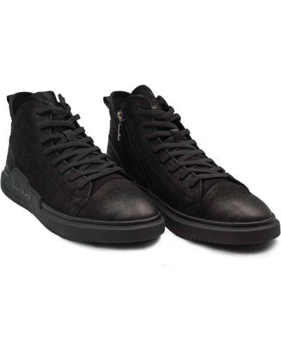 Ботинки из нубука - черные Cosottinni