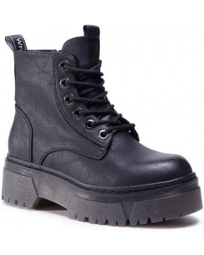 Кожаные ботинки - черные Wrangler