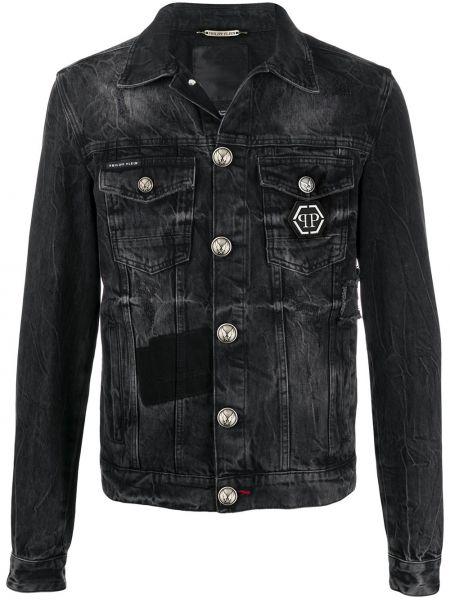 Хлопковая джинсовая куртка - черная Philipp Plein