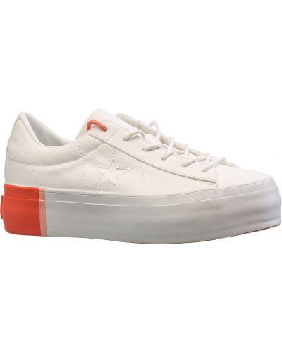 Кеды белые на платформе Converse