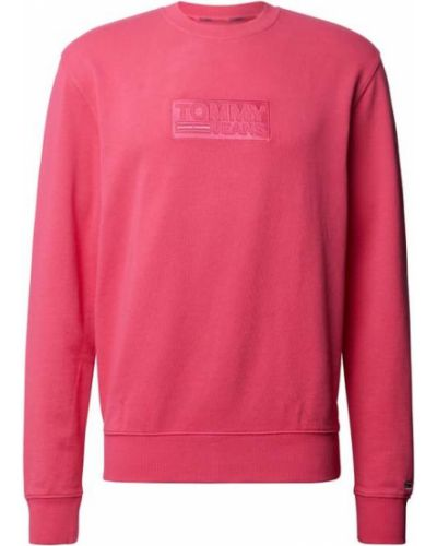 Prążkowana różowa bluza bawełniana Tommy Jeans