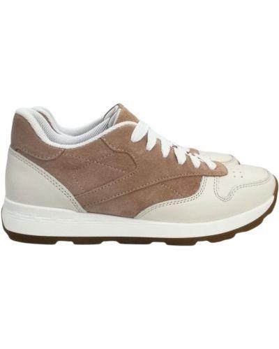 Кожаные кроссовки - бежевые Kento