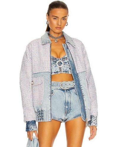 Синяя джинсовая джинсовая куртка Alessandra Rich
