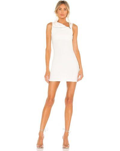 Biała sukienka wieczorowa srebrna Nbd
