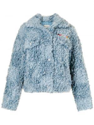 Niebieska kurtka z haftem Fiorucci