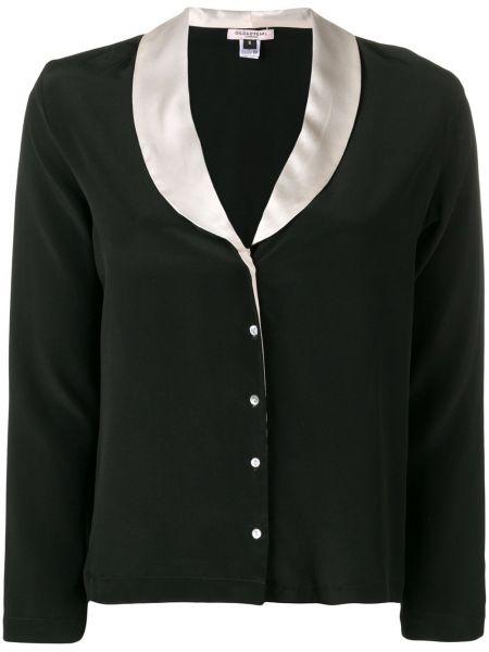 С рукавами черный удлиненный пиджак на пуговицах Gilda & Pearl
