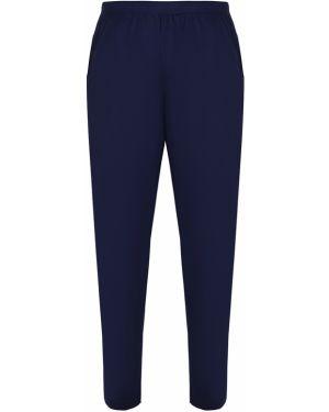 Синие домашние прямые брюки с карманами новогодние Zimmerli
