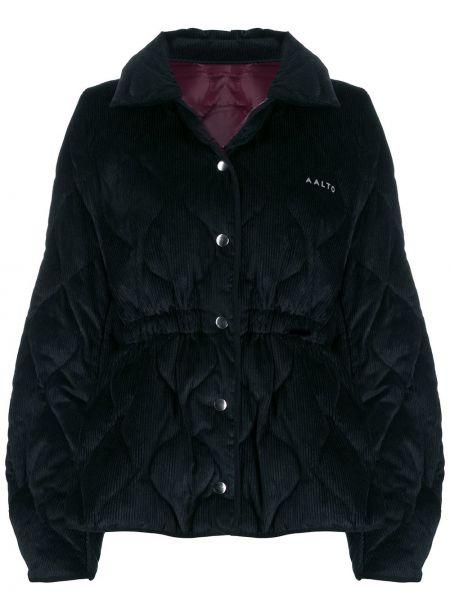 Czarna kurtka pikowana bawełniana Aalto