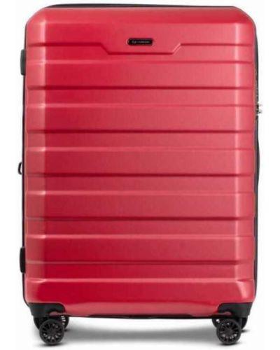 Walizka kabinowa materiałowa - czerwona Conwood