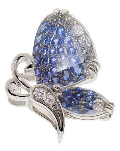 Серебряная подвеска с фианитом с камнями Sandara