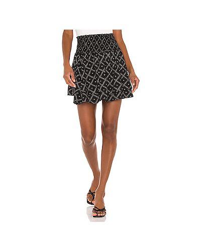 Шелковая черная юбка Rails
