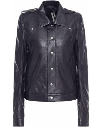 Кожаная куртка на пуговицах - черная Drkshdw By Rick Owens