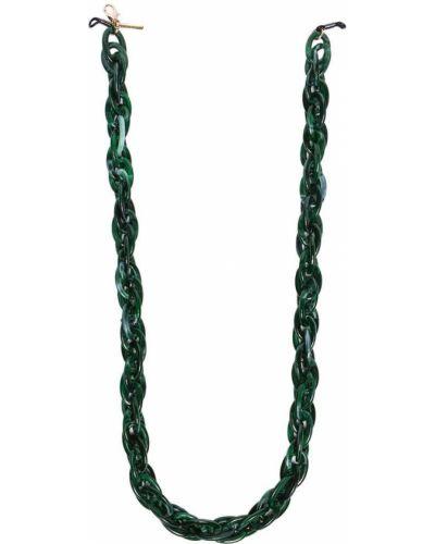 Зеленая золотистая акриловая цепочка Kaleos