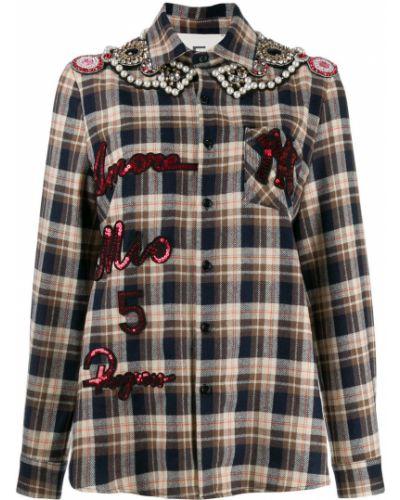 Классическая рубашка с воротником с вышивкой с карманами 5 Progress