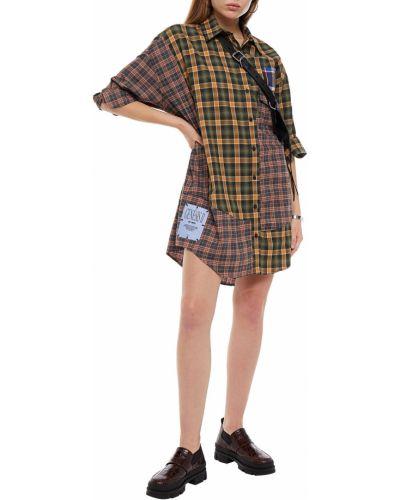 Zielona szmizjerka bawełniana zapinane na guziki Mcq Alexander Mcqueen