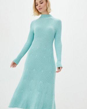Клубное бирюзовое вязаное платье Nataclub