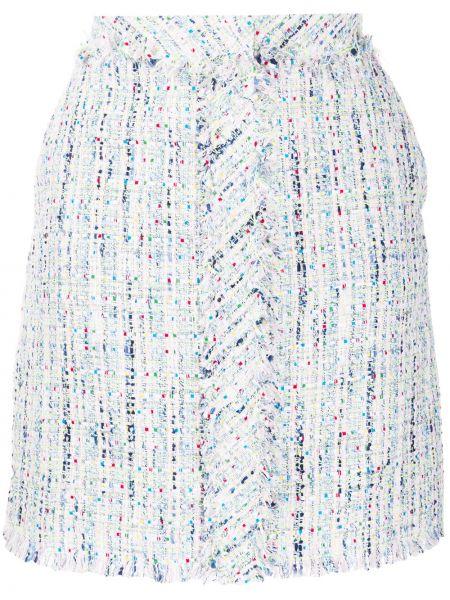 Белая юбка миди твидовая в рубчик Karl Lagerfeld