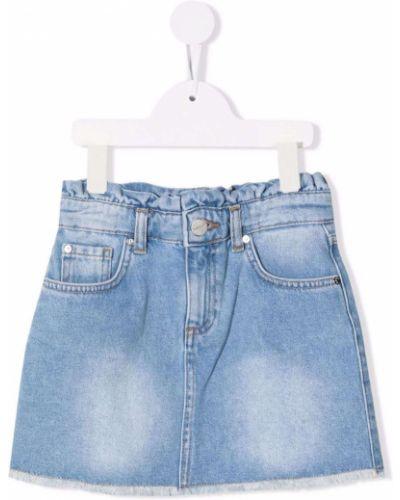Spódnica jeansowa - niebieska Pinko Kids