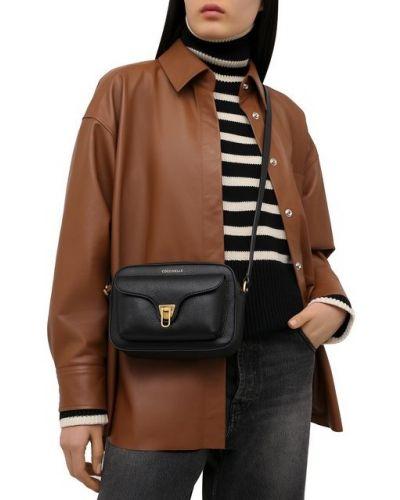Мягкая кожаная сумка через плечо Coccinelle