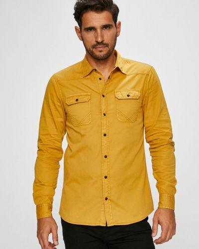 Рубашка с длинным рукавом однотонная хлопковая Blend