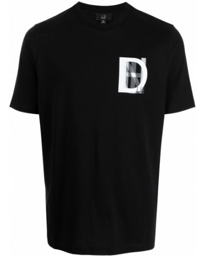 Czarna t-shirt bawełniana Dunhill