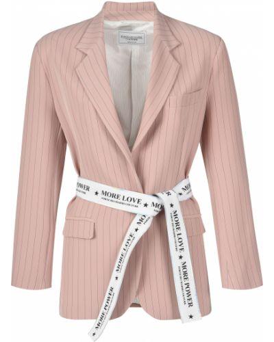 Пиджак из вискозы - бежевый Forte Couture