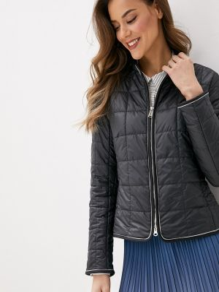 Утепленная куртка демисезонная черная Dellione