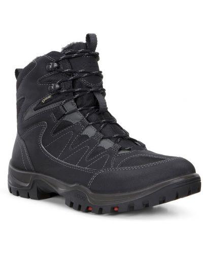 Зимние ботинки на шнуровке на толстой подошве Ecco