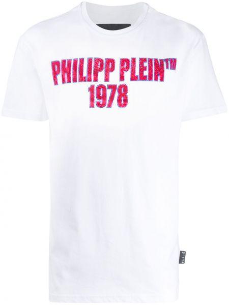 Koszula krótkie z krótkim rękawem prosto z nadrukiem Philipp Plein