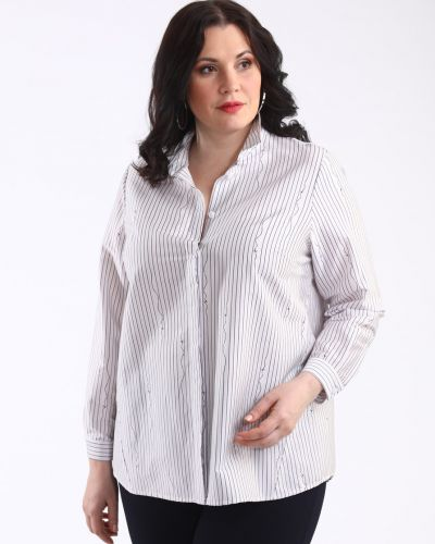 Блузка с кокеткой на пуговицах Averi