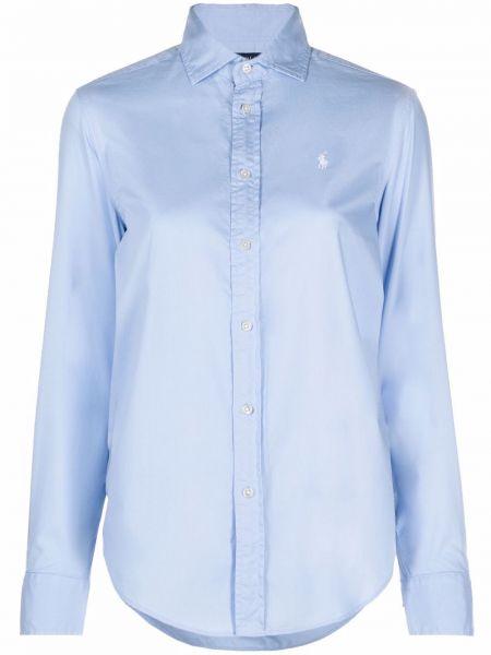 Длинная рубашка - синяя Polo Ralph Lauren