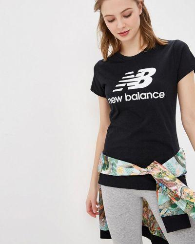 Черное поло New Balance