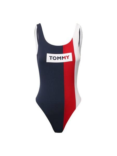 Слитный купальник для бассейна с открытой спиной Tommy Hilfiger