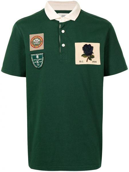 Zielona koszula krótki rękaw bawełniana Kent & Curwen