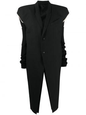 Długi płaszcz - czarny Rick Owens