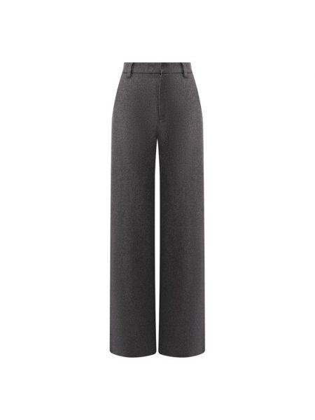 Шерстяные серые расклешенные брюки с подкладкой Paul&joe