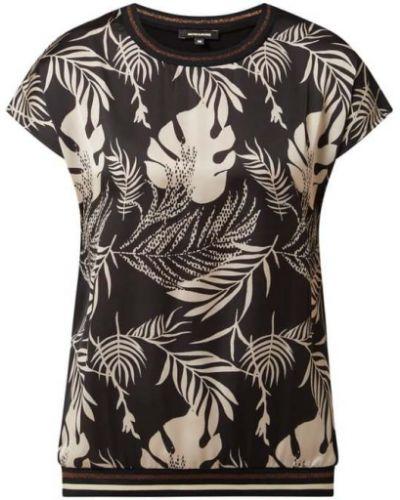T-shirt z wiskozy - czarna More & More